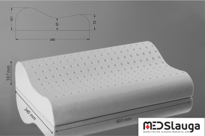 MEDSlauga pagalvė ortopedinė MED